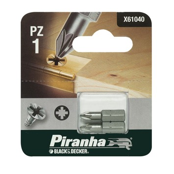 Piranha bit pz1 25 mm 2 stuks X61040