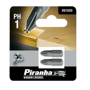 Piranha bit ph1 25 mm 2 stuks X61020