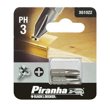 Piranha bit ph3 25 mm 2 stuks X61022