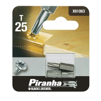 Piranha bit torx 25 25 mm 2 stuks X61063