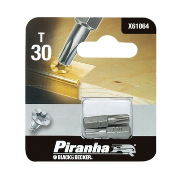 Piranha bit torx 30 25 mm 2 stuks X61064
