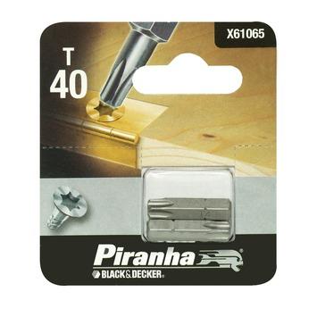 Piranha bit torx 40 25 mm 2 stuks X61065