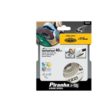 Piranha lamellen schuurschijf K40 115x22 mm X32107