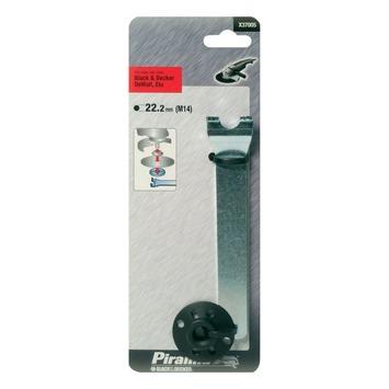 Piranha flens met sleutel voor steunschijf M14 (22.2 mm) X37005