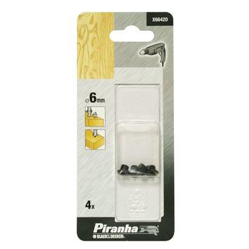 Piranha centreerpunt 6 mm 4 stuks X66420