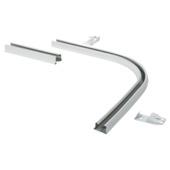 90° bocht en verbinder gordijnrail Plus