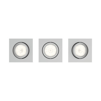 Philips Casement LED inbouwspot 3X4.5W grijs