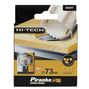 Piranha HI-TECH gatenzaag bimetaal 73 mm X81077