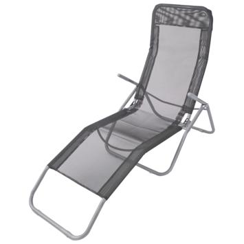 Ligstoel camping grijs