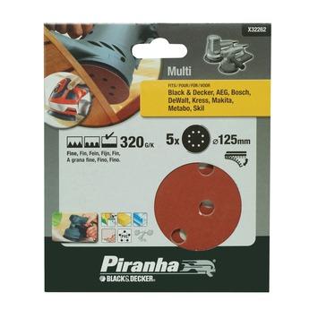 Piranha schuurschijf K320 125 mm 5 stuks X32262