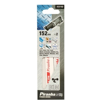 Piranha reciprozaagblad metaal/flexibel 152 mm X22182