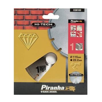 Piranha HI-TECH diamantblad gesegmenteerde rand 115 mm X38102