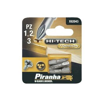 Piranha HI-TECH bit pz1-2-3 25 mm 3 stuks X62043