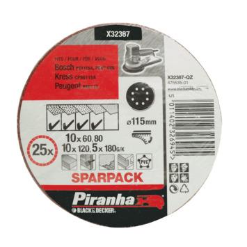 Piranha schuurschijfset 115 mm X32387