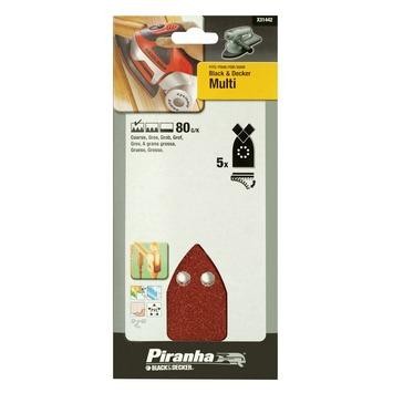 Piranha schuurstrook K80 107x100 mm 5 stuks X31442