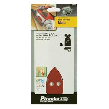 Piranha multischuurstroken K180 170x100 mm 5 stuks X31452