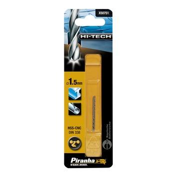 Piranha HI-TECH metaalboor 1,5 mm 2 stuks X50751