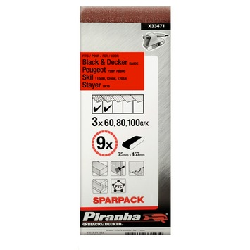 Piranha schuurband sparpack X33471 457x75 mm