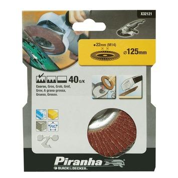 Piranha lamellen schuurschijf K40 125 mm X32121