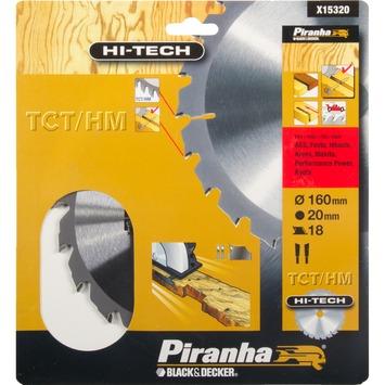 Piranha HI-TECH cirkelzaagblad TCT-HM 160x20 mm 18 tanden X15320