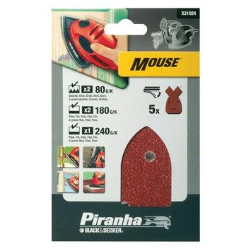 Piranha schuurstrookset Mouse 5 stuks X31024