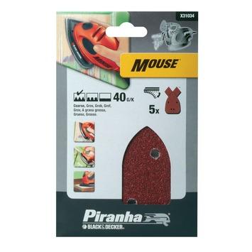 Piranha schuurstrook K40 Mouse 5 stuks X31034