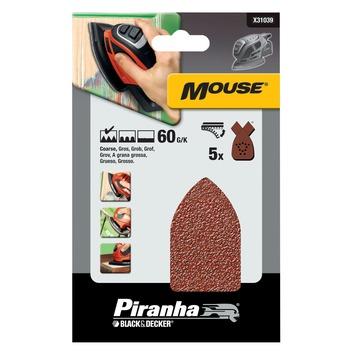 Piranha schuurstrook K60 Mouse 5 stuks X31039