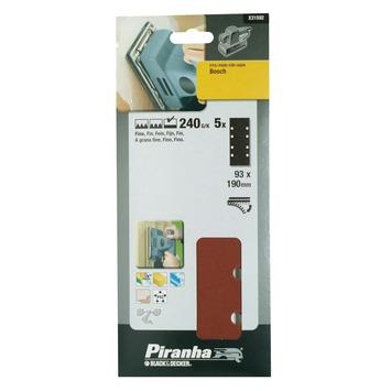 Piranha schuurstrook K240 187x93 mm 5 stuks X31592