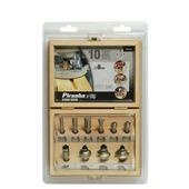 Piranha frezenset 10 delig in houten kist X80020-XJ