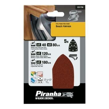 Piranha multischuurstrokenset 5 stuks X31730
