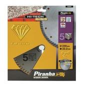 Piranha HI-TECH diamantblad volle rand 230 mm X38207