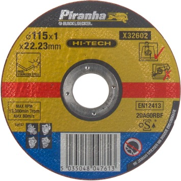 Piranha HI-TECH doorslijpschijf metaal 1x115 mm X32602