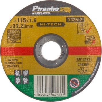 Piranha HI-TECH doorslijpschijf steen 1,6x115 mm X32612