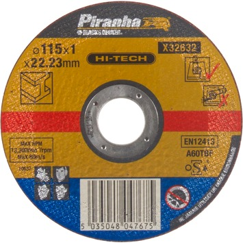 Piranha HI-TECH doorslijpschijf metaal 1x115 mm X32632-QZ