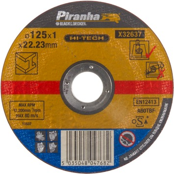 Piranha HI-TECH doorslijpschijf metaal 1x125 mm X32637