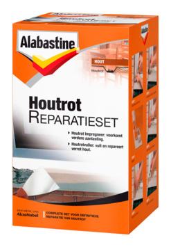 Alabastine houtrotvuller set 500 gram