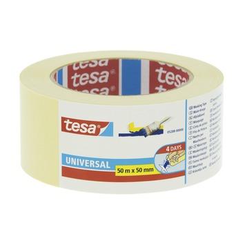 Tesa Universal afplaktape 50 mm 50 meter geel