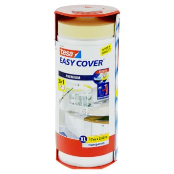 Tesa EasyCover afdekfolie premium 17x2,6 meter transparant in dispenser