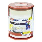Tesa EasyCover dispenser premium 55 cm 33 meter afdekfolie en afplaktape transparant