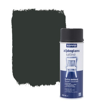 GAMMA spuitlak zwart zijdeglans 400 ml