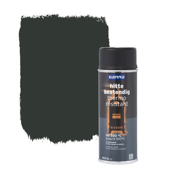 De KARWEI spuitlak hoogglans zwart 400 ml is een duurzame spuitlak met hoge dekkracht.