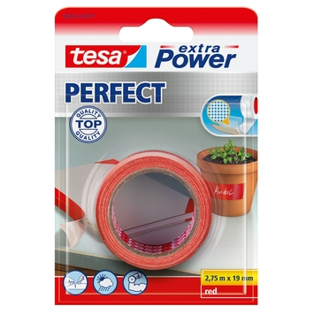 Tesa ExtraPower Perfect textieltape 19 mm 2,7 meter rood