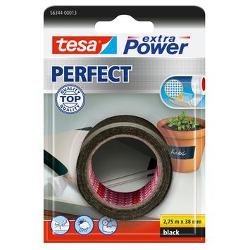 Tesa ExtraPower Perfect textieltape 38 mm 2,75 meter zwart