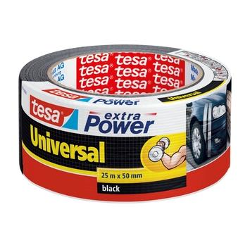 Tesa Extra power reparatietape 50 mm 25 meter zwart