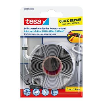 Tesa tape zelfvulkaniserend 25 mm 3 meter zwart