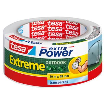 Tesa Extra power reparatietape outdoor 48 mm 20 meter transparant