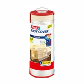 Tesa EasyCover afdekfolie premium 33x1,4 meter transparant in dispenser