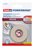Tesa Powerbond montagetape binnen 19 mm 1,5 meter wit