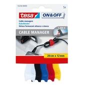 Tesa kabelmanager universeel 20 cm 12 mm 5 stuks