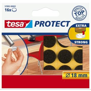 Tesa vilt diameter 18 mm rond bruin 16 stuks